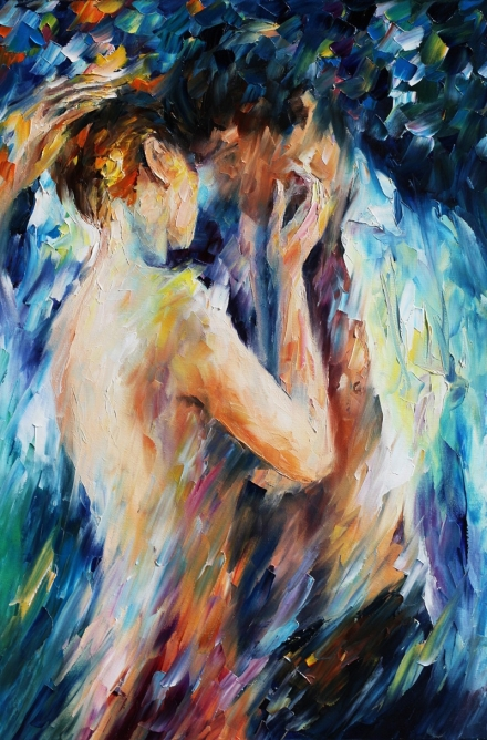 """The Impressionist Lovers"" de Leonid Afemov"