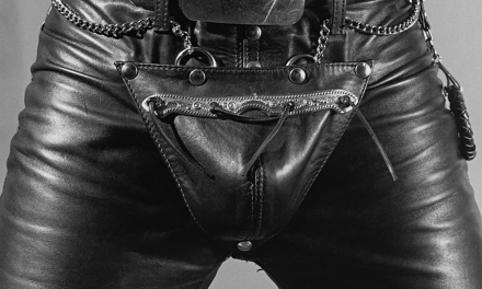 Leather Crotch (Entrejambe en cuir) (1980) by Robert Mapplethorpe.