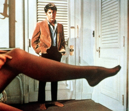 Dustin Hoffman in Mike Nichols' THE GRADUATE (1967).