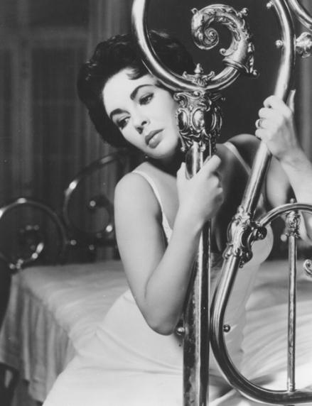 Liz Taylor en La gata sobre el tejado de zinc. 1958.