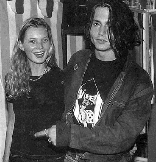 Johnny Depp y Kate Moss.