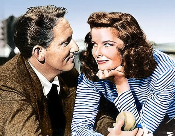 Spencer Tracy y Katherine Hepburn